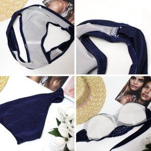 Berry Stylish Swim - Berry Lacey Bikini in Navy Blue - S / XS
